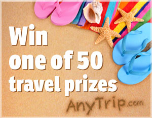 Win one of 50 Travel Prizes to Celebrate the Launch of AnyTrip.com
