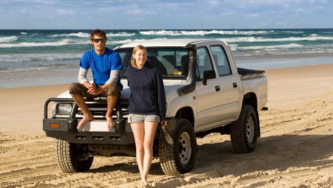 Travel mates on the beach