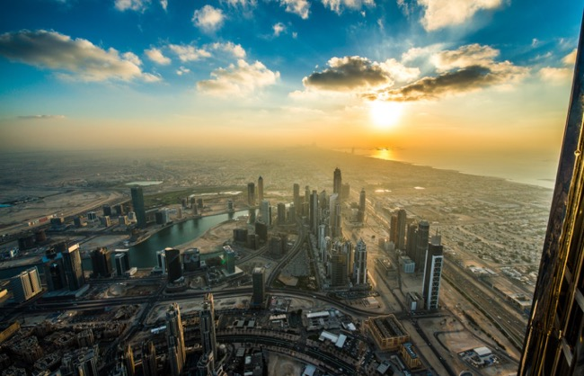 Enjoy Sunset From Burj Khalifa