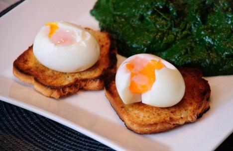 Perfect egg yolk