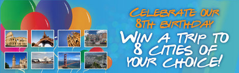 Win a trip to 8 cities of your choice with Hostelbookers