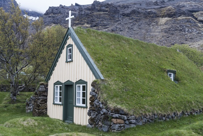 The Turf Church of Vidimyri, Iceland