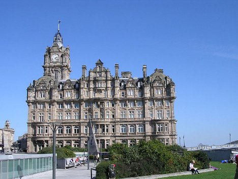 The stunning exterior of the Balmoral Hotel in Edinburgh