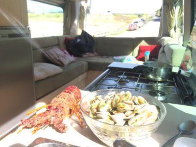 Campervan cooking