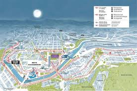 EDP Bilbao Night Marathon route