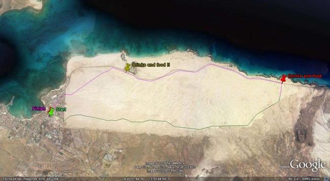 Fuerteventura Dunes Half Marathon route