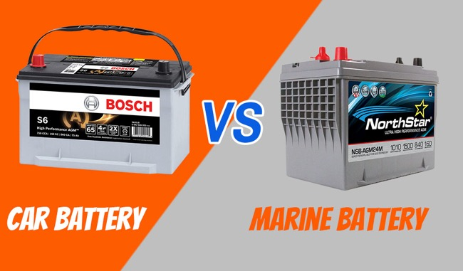 Difference Between a Marine and Car Battery