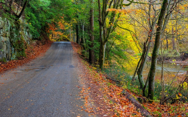 Hocking Hills Scenic Byway in Ohio