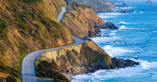 The Pacific Coast Highway in California