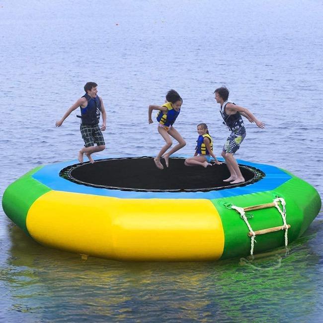 Water trampolining