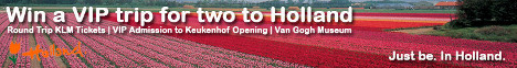 Win a VIP trip for two to Holland