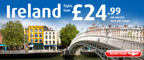 Aer Lingus - Summer Flights to Ireland from GBP24.99 inc. tax