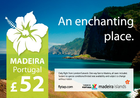 TAP portugal - Fly from London to Madeira for 52 GBP