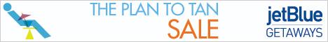 jetBlue Getaways - Plan to Tan Sale