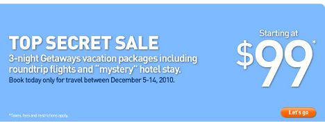 jetBlue Cyber Monday Getaways Top Secret Sale