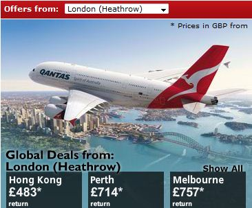 Qantas Economy Offers To Australia from the UK