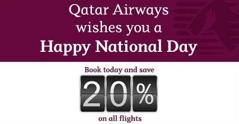 Qatar Airways National Day Sale