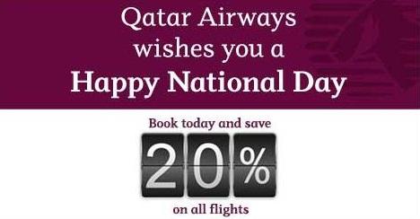 Qatar Airways National Day Sale