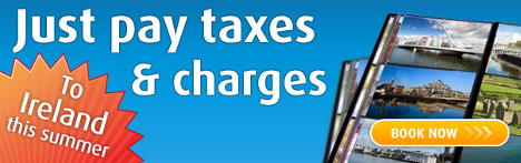 Aer Lingus - Just pay taxes and charges for flights to Ireland