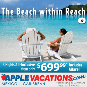 The Beach within Reach - 3 nights all-inclusive from $699.99 (includes airfares)