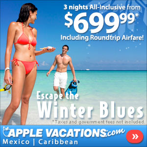 Got the Winter Blues? Apple Vacations Can Help!