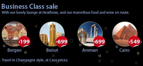 bmi Business Class sale