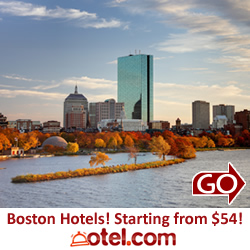 Boston hotel sale at otel.com
