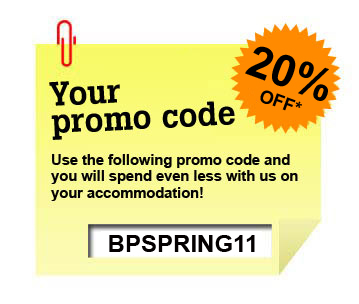 Budgetplaces promo code: get a 20% reduction off accommodation