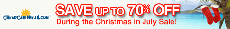 Cheap Caribbean XMAS in July Sale - Savings up to 70% OFF
