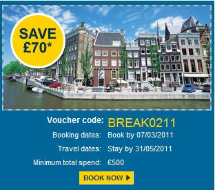 Save £70 off flight+hotel packages