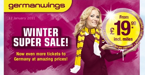 Germanwings - Reduced tickets from 19.99 GBP