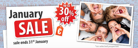 HostelBookers January Sale - up to 30% off normal rates.