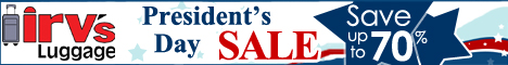President's Day Weekend Sale at Irv's Luggage