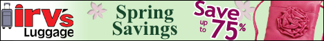 Spring Coupon and Sale from Irv's Luggage