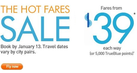JetBlue Hot fares! Starting at just $39