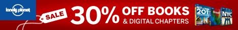 30% Off All Print Books at Lonely Planet