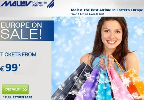Malév tickets from only EUR 99