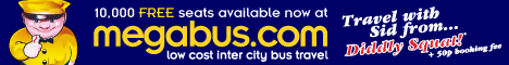 10,000 free seats from megabus.com UK