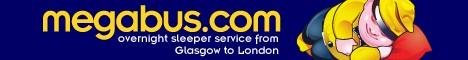 Megabus.com sleeper service between Glasgow and London