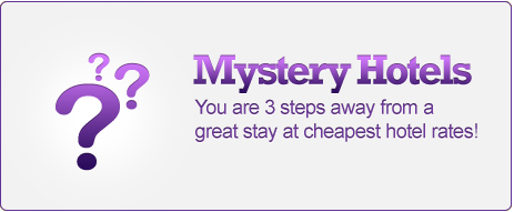 Save up to 70% off on Mystery Hotels