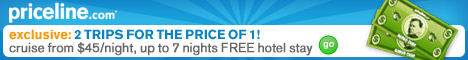 Priceline cruise sale - 2 trips for the price of 1