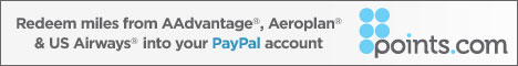 Redeem Miles into your PayPal Account at points.com