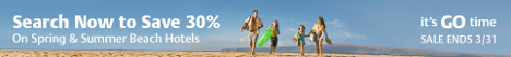Spring Break Sale! Save 30% on Beach hotels with Travelocity