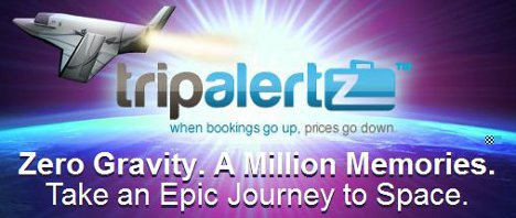 Win a free trip to space with TripAlertz