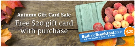Get a Free $20 B&B Gift Card with Purchase