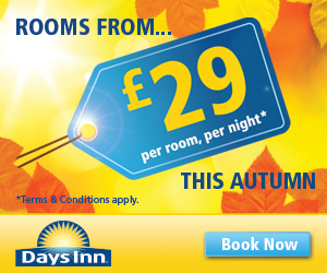 Rooms from £29 at Days Inn