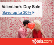 Valentine's Day Sale: Save up to 30% at hotels.com