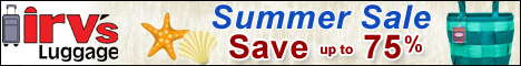 Summer Clearance Sale at Irv's Luggage - Save up to 75%