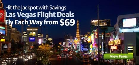Las Vegas flights from $69 each way
