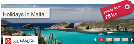 4% off all Malta bookings at lowcostholidays.com